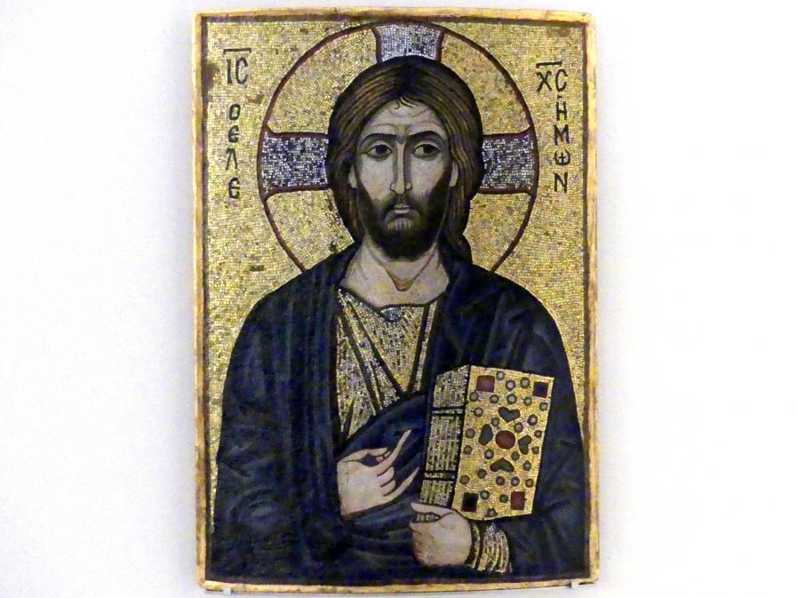 Mosaikikone mit Christus dem Barmherzigen, 1. Hälfte 12. Jhd.