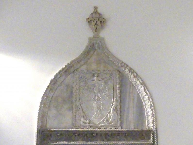 Supraporte mit Wappen, Beginn 15. Jhd.