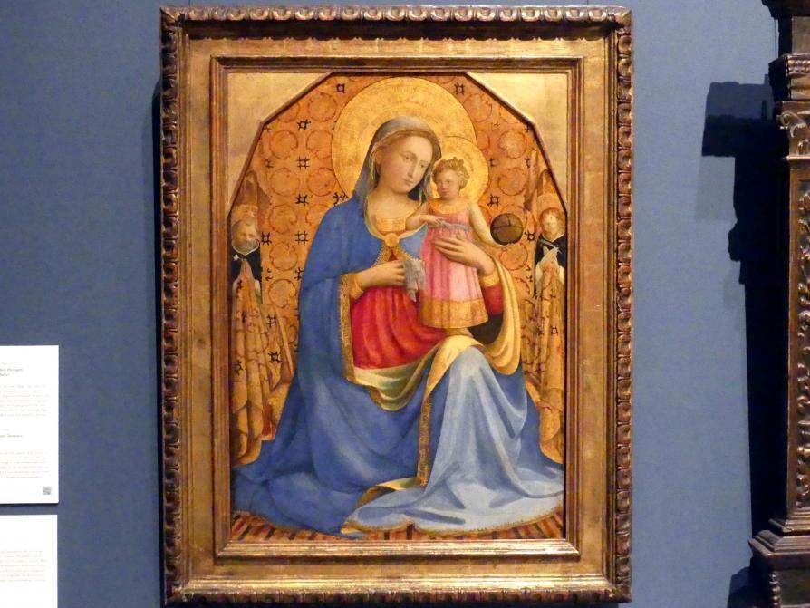 Fra Angelico: Madonna mit Kind und den Heiligen Dominikus und Petrus Martyr, um 1435