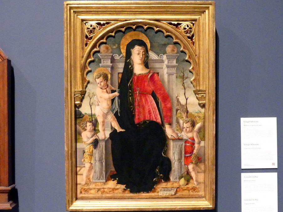 Giorgio Schiavone: Madonna mit Kind und Engeln, um 1456 - 1460
