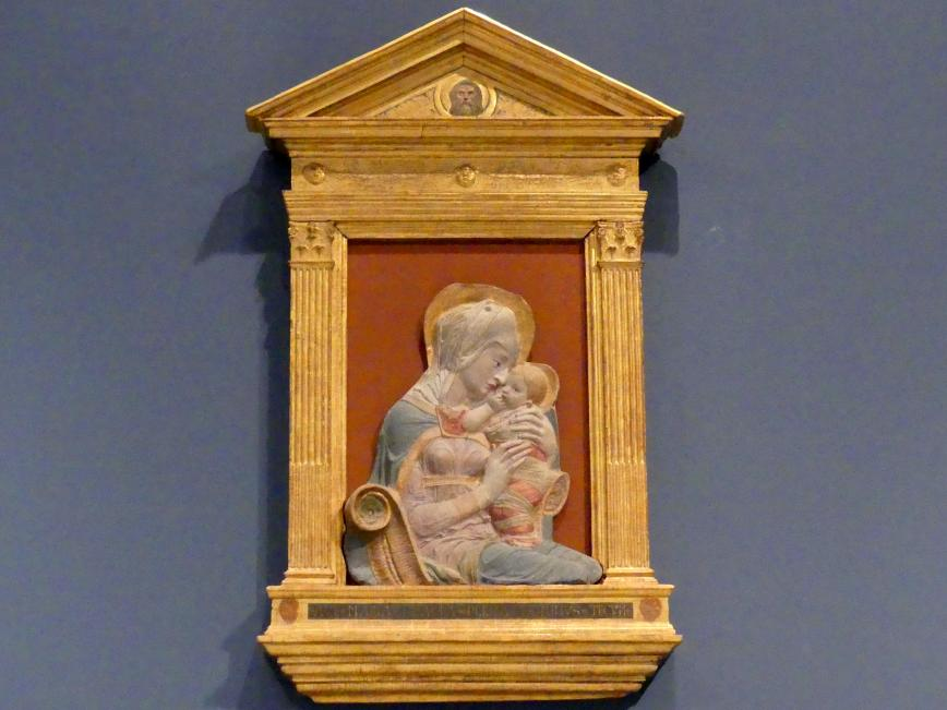 Donatello (Nachahmer): Madonna mit Kind, gen. die Pietrapiana Madonna, um 1440 - 1450
