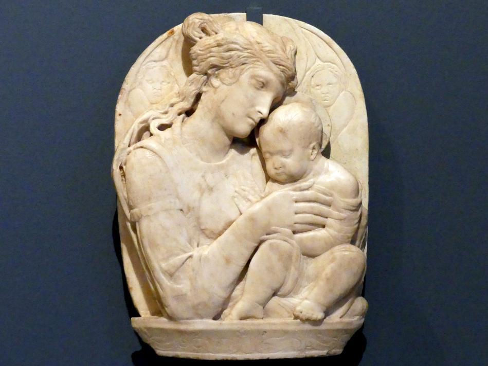 Donatello (Nachfolger): Madonna mit Kind und zwei Cherubinen, um 1440 - 1460