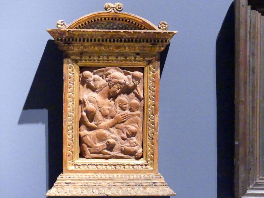 Donatello: Madonna mit Kind und fünf Engeln, um 1445 - 1450
