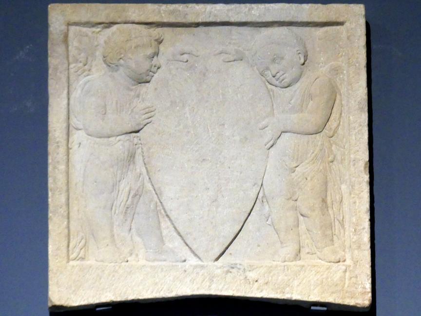 Donatello (Nachfolger): Wappenschild zwischen vier Putten, um 1450