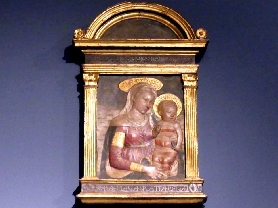 Desiderio da Settignano (Nachahmer): Madonna mit Kind, gen. Foulc Madonna, um 1450 - 1455
