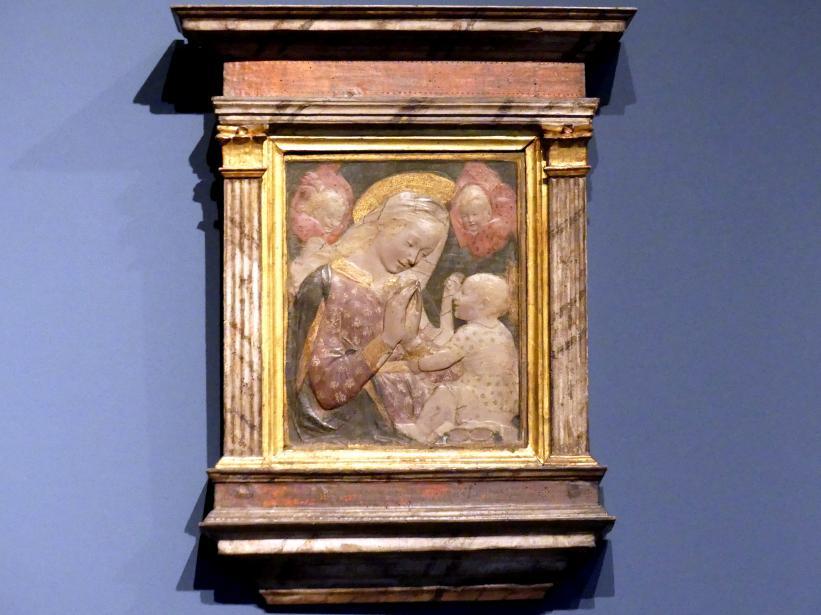 Desiderio da Settignano (Nachahmer): Madonna mit Kind und zwei Cherubinen, um 1450 - 1460