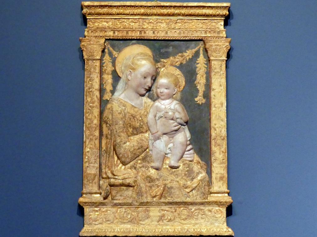Antonio Rossellino (Nachfolger): Madonna mit Kind, um 1460 - 1480