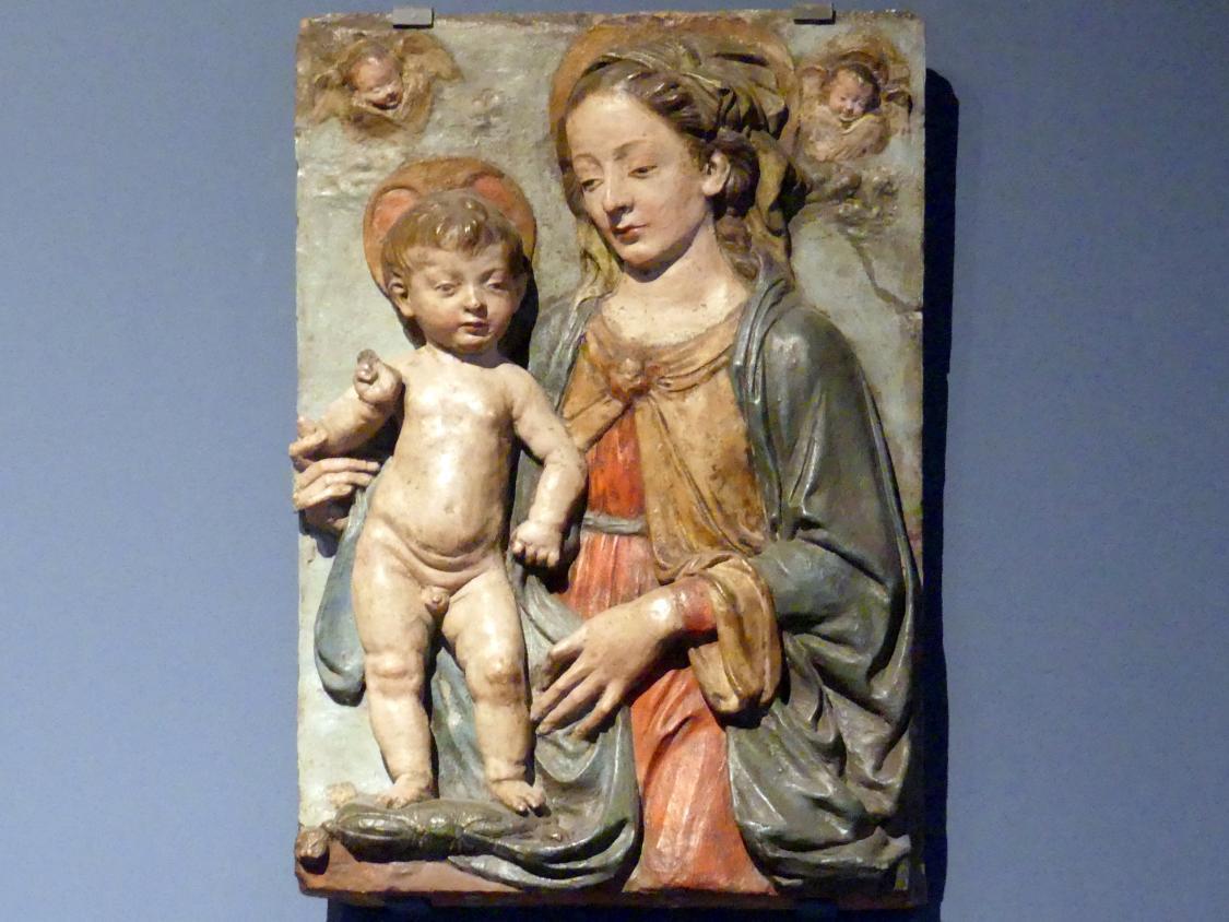 Andrea del Verrocchio (Nachahmer): Maria mit Kind, gen. Medici Madonna, um 1470 - 1480