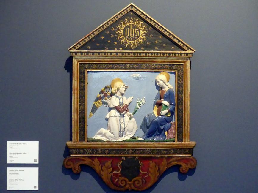 Andrea della Robbia: Die Verkündigung, um 1490