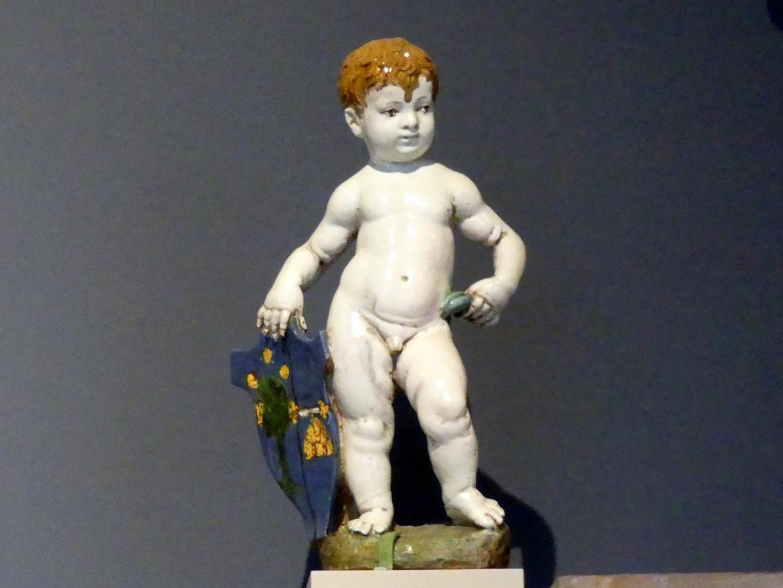 Andrea della Robbia (Werkstatt): Putto als Wappenhalter, um 1500