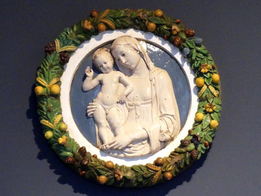 Andrea della Robbia (Werkstatt): Madonna mit Kind, gen. Madonna von Arezzo, um 1470 - 1480