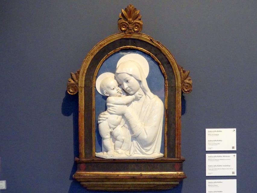 Andrea della Robbia: Madonna mit Kind, um 1470 - 1480