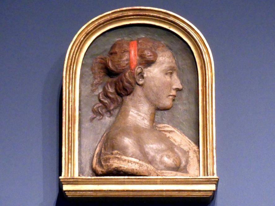 Andrea del Verrocchio (Nachahmer): Profilbildnis einer Frau, um 1450 - 1460