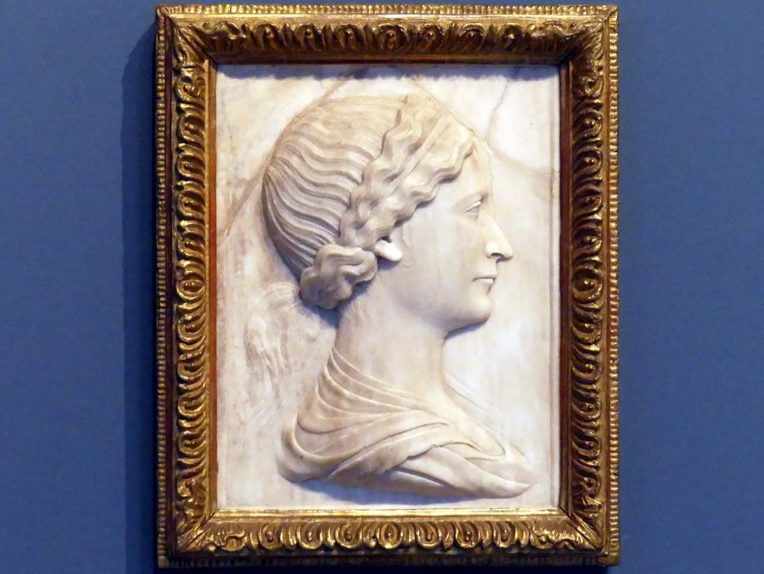 Mino da Fiesole (Nachfolger): Bildnis einer jungen Frau, um 1450 - 1460