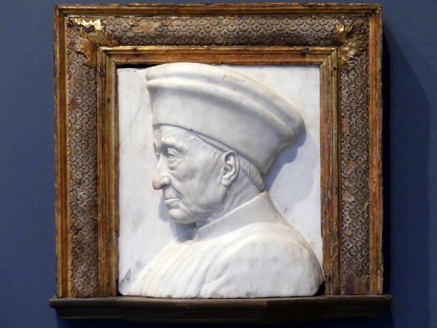"Antonio Rossellino (Werkstatt): Cosimo ""der Ältere"" de' Medici, um 1460"