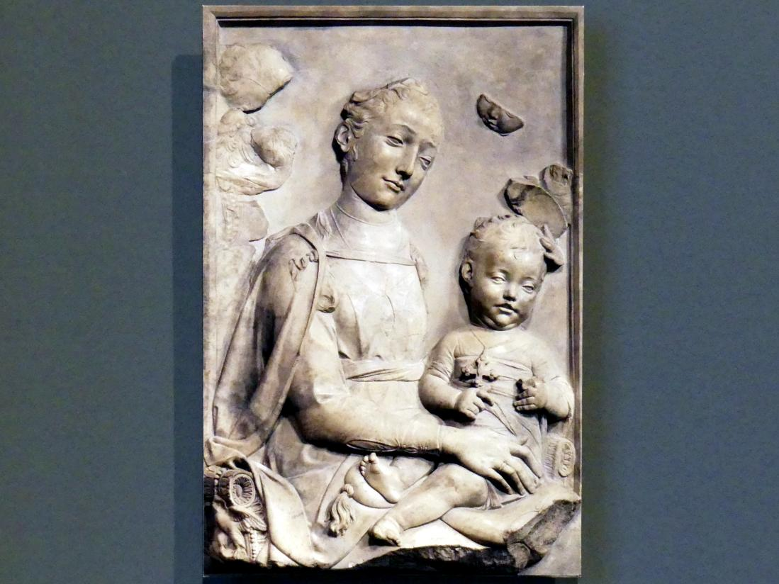 Antonio Rossellino: Madonna mit Kind, um 1460 - 1470