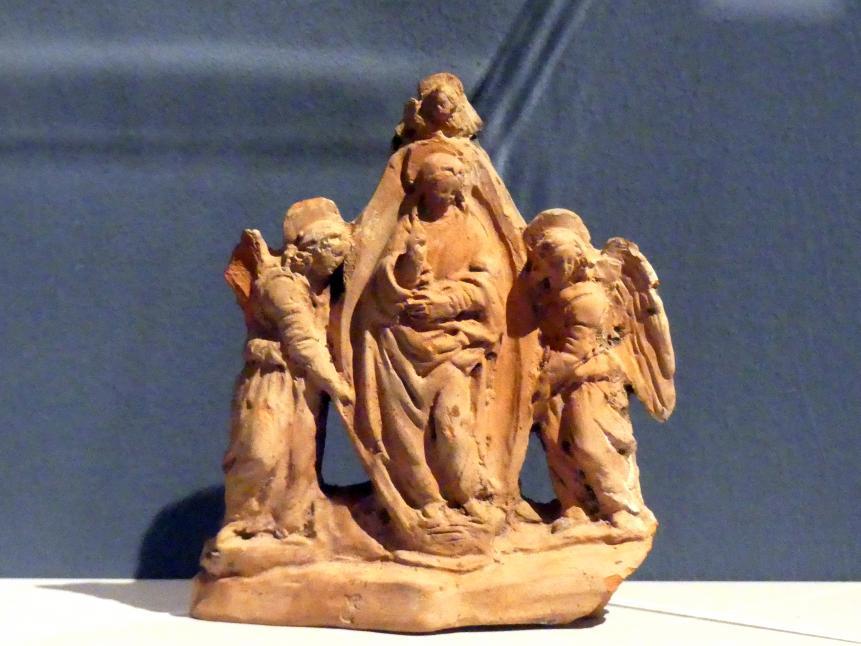 Benedetto da Maiano (Nachahmer): Maria, von Engeln emporgetragen, um 1470 - 1480
