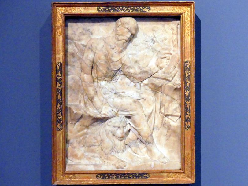 Agostino di Duccio: Der hl. Hieronymus in der Einöde, 1446