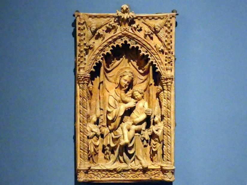 Michele da Firenze (Michele di Niccolò Dini): Madonna mit Engeln, um 1415