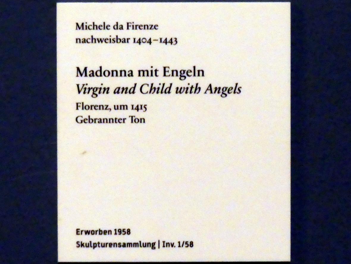 Michele da Firenze (Michele di Niccolò Dini): Madonna mit Engeln, um 1415, Bild 2/2
