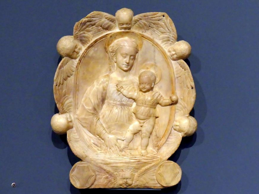 Gregorio di Lorenzo (Werkstatt): Madonna im Engelkranz, 2. Hälfte 15. Jhd.