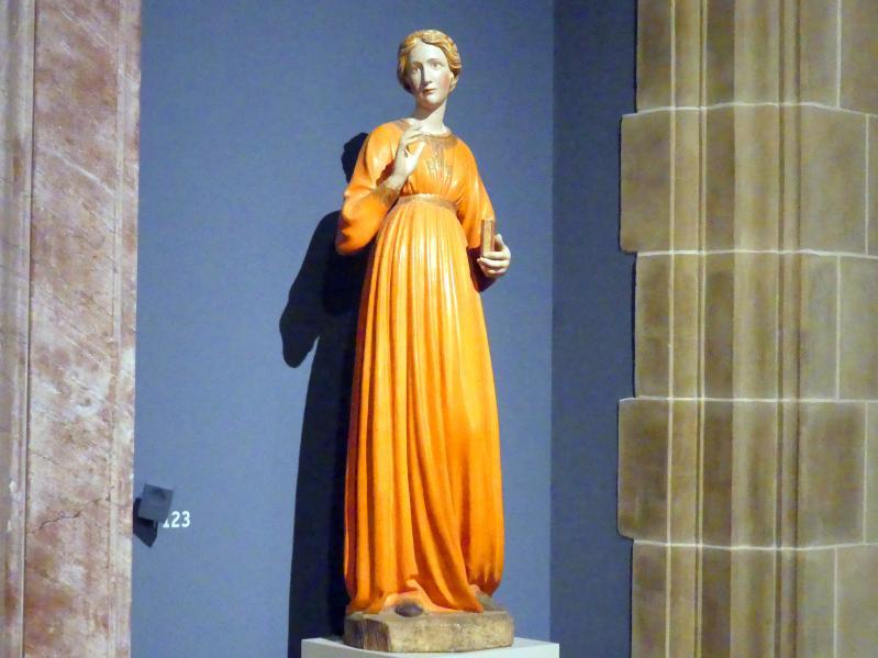 Francesco di Valdambrino: Maria aus einer Verkündigungsgruppe, um 1420