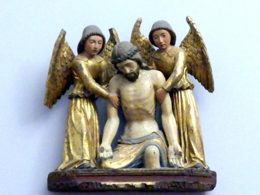Domenico da Tolmezzo (Domenico di Candido): Der Leichnam Christi von zwei Engeln betrauert, Ende 15. Jhd.