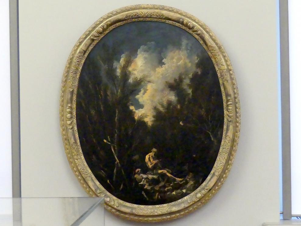 Alessandro Magnasco: Landschaft mit dem Hl. Eremiten Paulus, um 1725 - 1730
