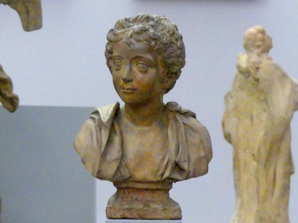 Massimiliano Soldani (Massimiliano Soldani Benzi): Knabenbüste des Kaisers Marc Aurel, Undatiert