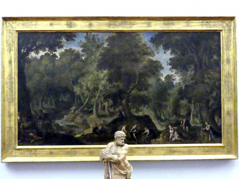Paolo Fiammingo (Pauwels Franck): Felsige Waldlandschaft mit Diana und den Nymphen, um 1590 - 1595