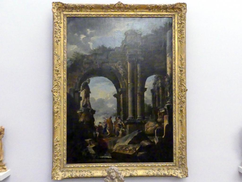 Giovanni Paolo Pannini: Phantasielandschaft mit römischen Ruinen, um 1740