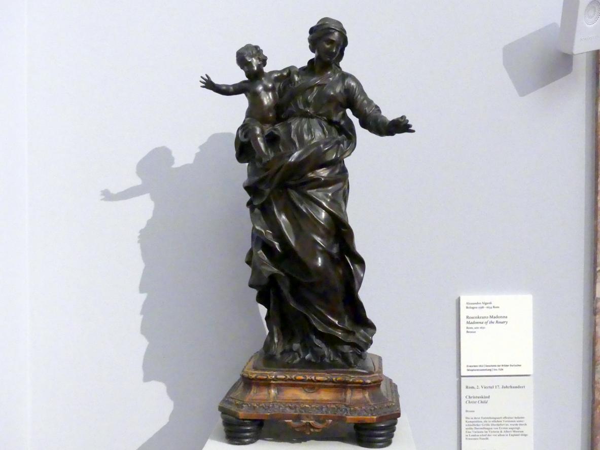 Alessandro Algardi: Rosenkranz-Madonna, um 1650