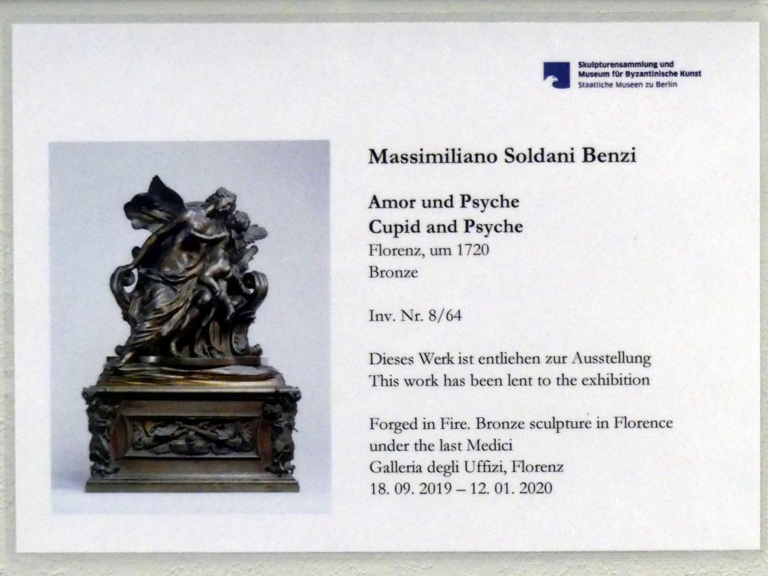 Massimiliano Soldani (Massimiliano Soldani Benzi): Amor und Psyche, um 1720
