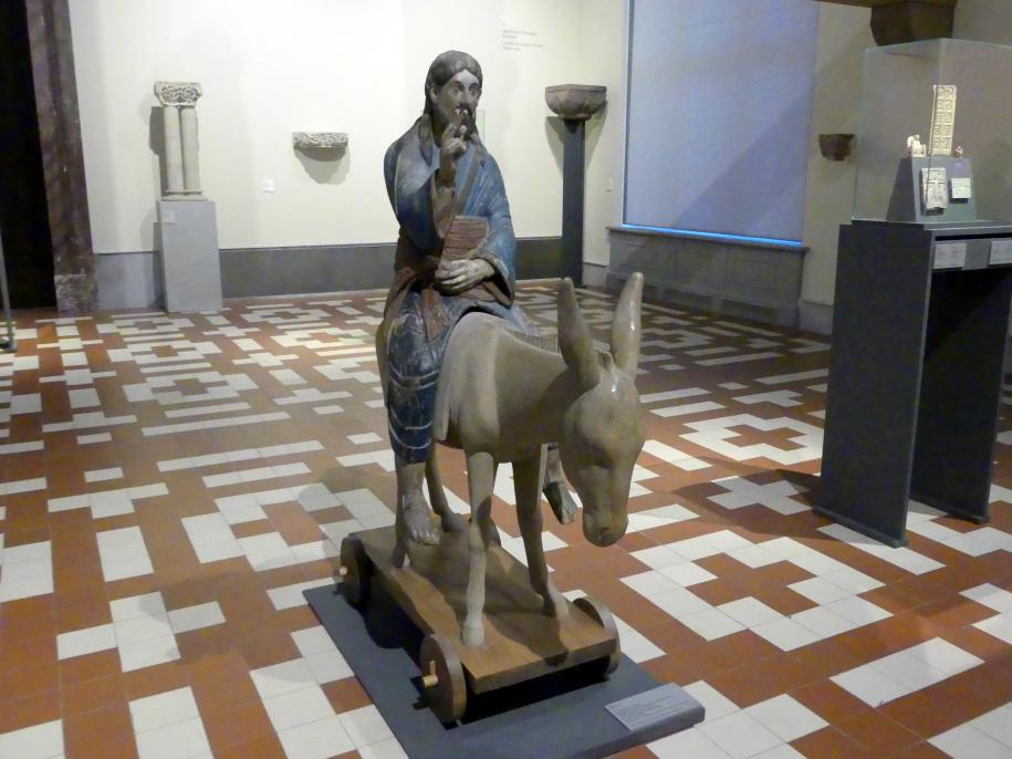 Christus als Eselreiter, mitgeführt bei Prozessionen an Palmsonntag, Ende 12. Jhd.
