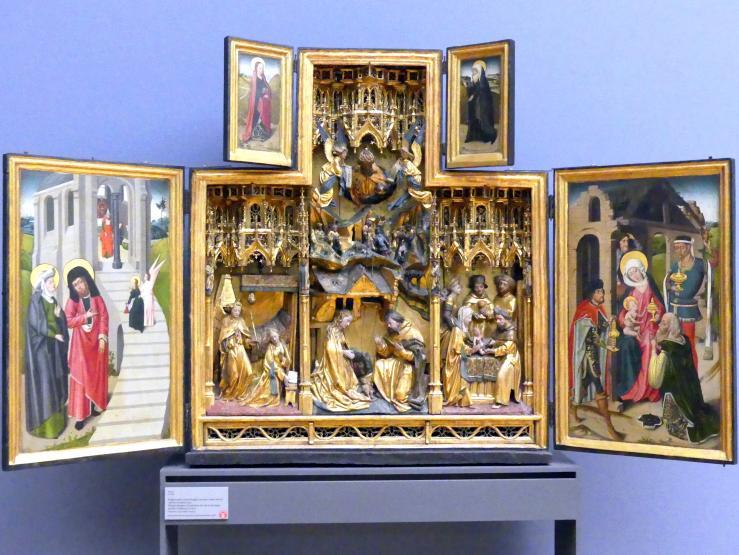 Flügelretabel: Darstellungen aus dem Leben Marias und der Kindheit Jesu, um 1480