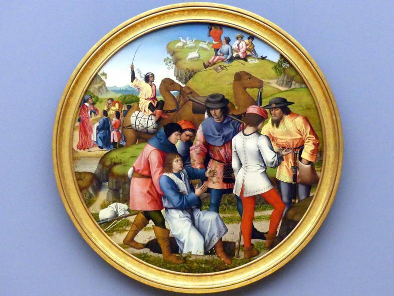 Meister der Josephsfolge: Joseph wird von seinen Brüdern an die Ismaeliter verkauft, um 1490 - 1500