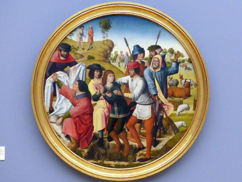 Meister der Josephsfolge: Joseph wird von seinen Brüdern in die Grube gestoßen, um 1490 - 1500