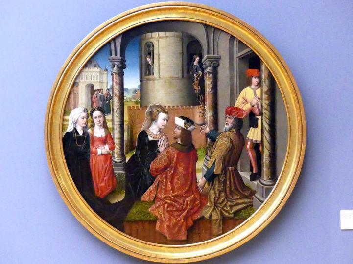 Meister der Josephsfolge: Josephs Begegnung mit Asenath, um 1490 - 1500