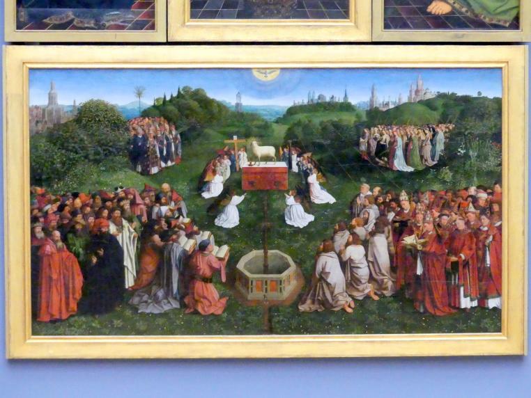 Michiel Coxcie: Anbetung des mystischen Lammes, 1557 - 1559