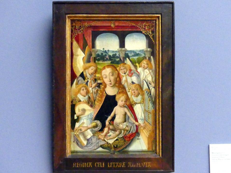 Muttergottes mit musizierenden Engeln, um 1490