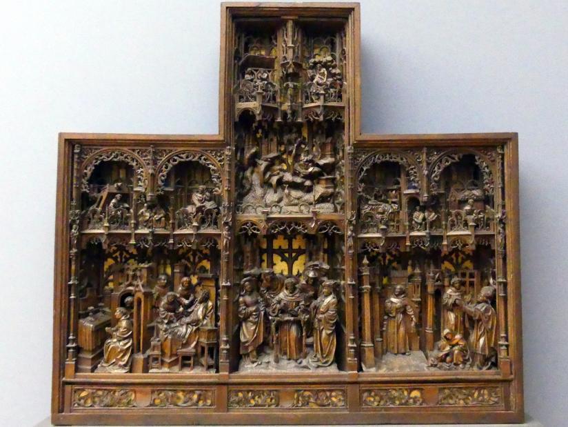Pasquier Borman (Umkreis): Retabel mit Darstellungen aus dem Leben des hl .Franz von Assisi, um 1515 - 1520