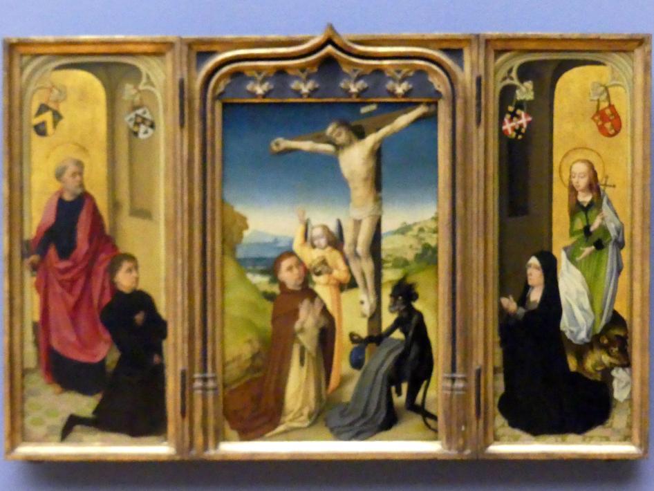 Triptychon des Pieter van de Woestijne, um 1475