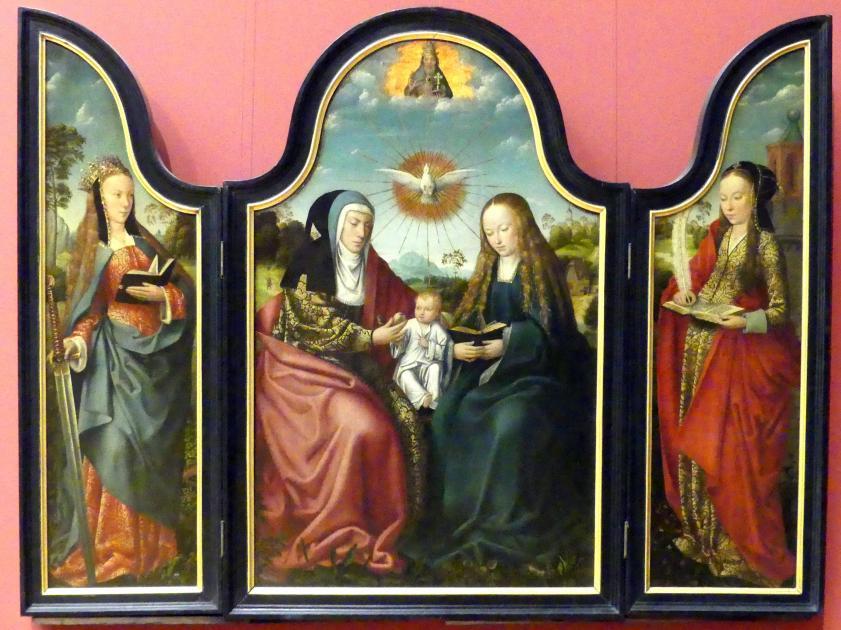 Meister von Frankfurt: Triptychon mit der hl. Anna Selbdritt, um 1515