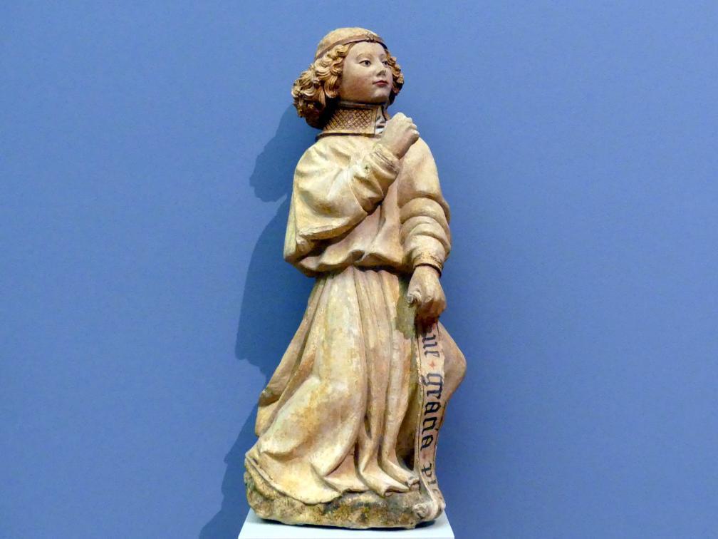 Jacques Morel: Erzengel Gabriel aus einer Verkündigung an Maria, um 1450 - 1460