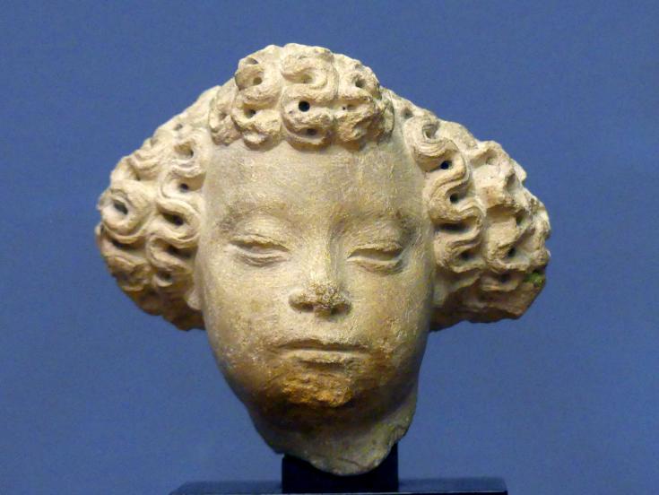 Kopf eines Engels, um 1400