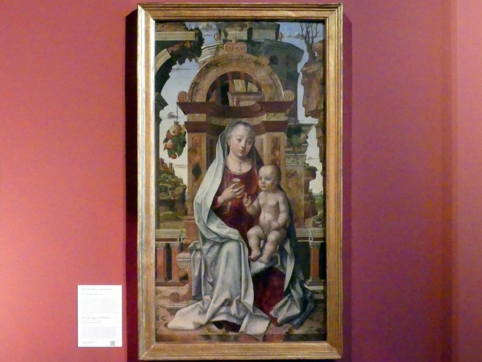 Pedro Berruguete: Thronende Maria mit dem Kind, um 1475