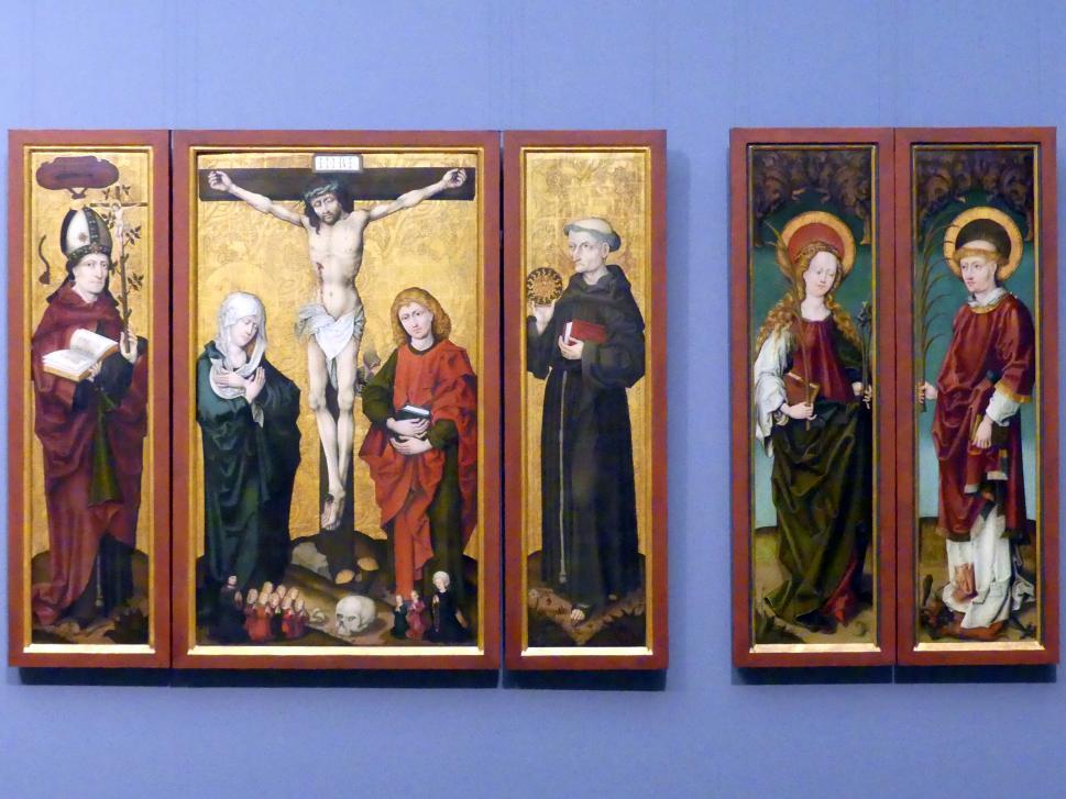 Triptychon mit der Kreuzigung Christi, Ende 15. Jhd.