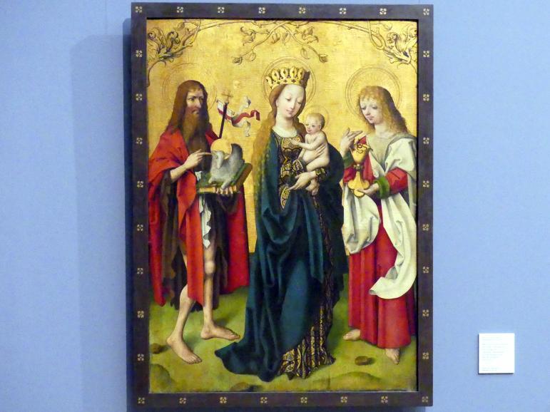 Maria mit den Hll. Johannes dem Täufer und Johannes dem Evangelisten, um 1490 - 1495