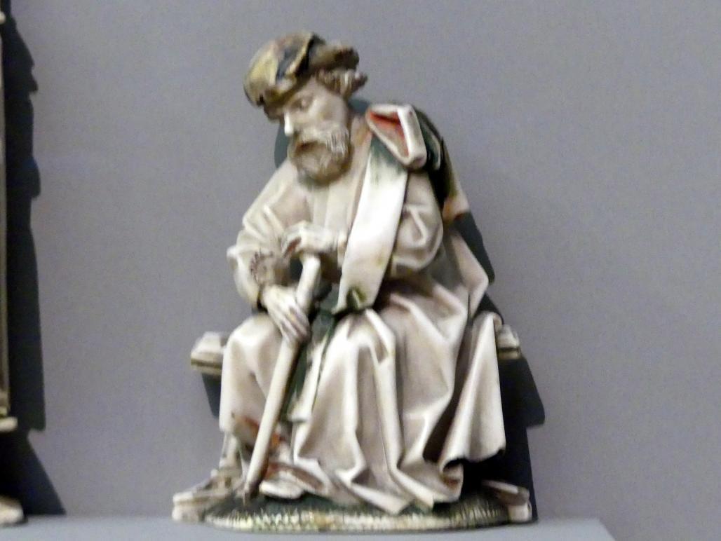 Schlafender Joseph aus einer Darstellung der Geburt Christi, um 1450