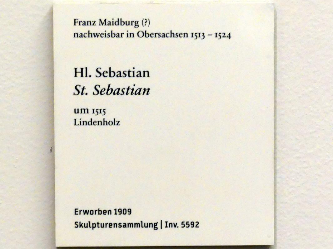 Franz Maidburg: Hl. Sebastian, um 1515, Bild 3/3